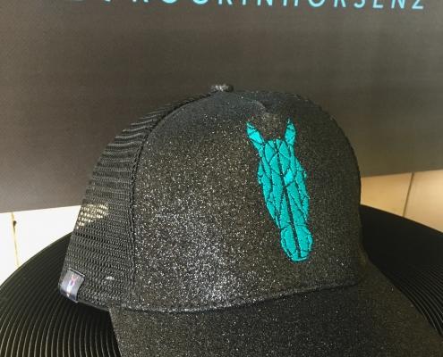 Teal Ponytail caps