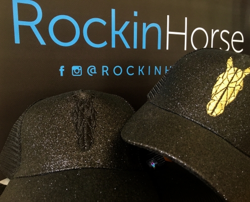 Black and Gold Ponytail Cap
