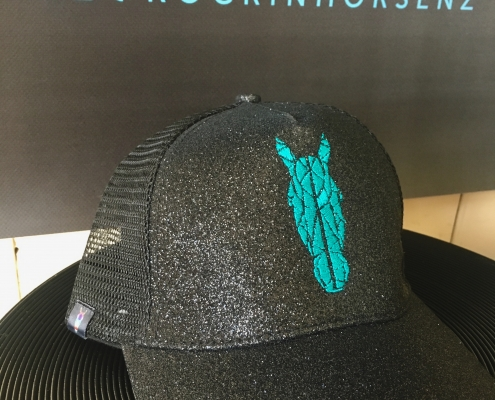 Teal Ponytail caps